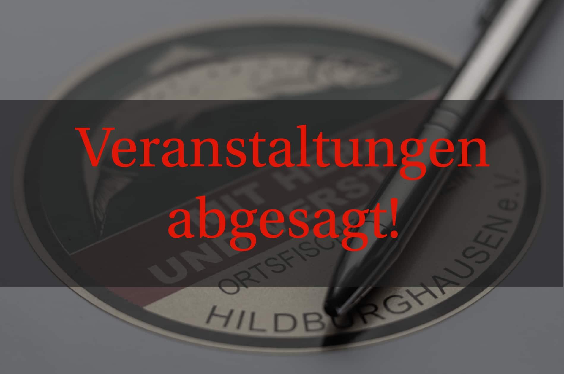 """""""Frühjahrsputz und Königsfischen 2020"""" abgesagt"""